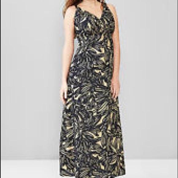 GAP Dresses & Skirts - Gap Maternity Banana Leaf Print Dress Size 2